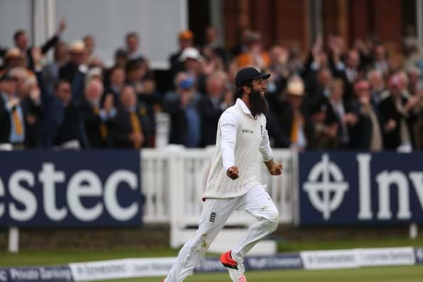 Moeen Ali claimed a fine catch to seal the win for England.